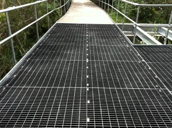 50mm thick Moltruded suspended FRP grating