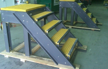FRP access platforms for inside tanks