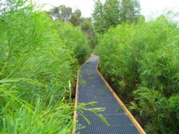 FRP grating walkway in National Park