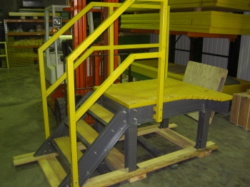 FRP platform and handrail