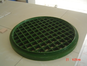 Underside with pipe recess 450mm & 600mm FRP drain covers